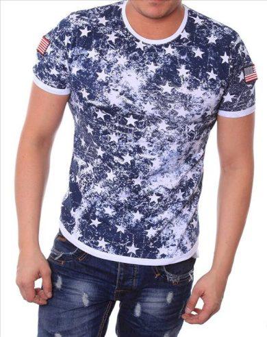 Tričko Redway 6 Star - modré, L