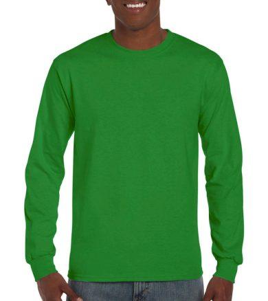 Triko s dlouhým rukávem Gildan Ultra - zelené, XXL