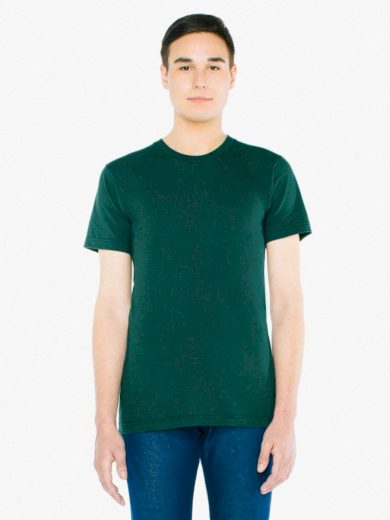 Triko American Apparel Fine Jersey - tmavě zelené, L
