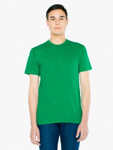 Triko American Apparel Fine Jersey - zelené, M