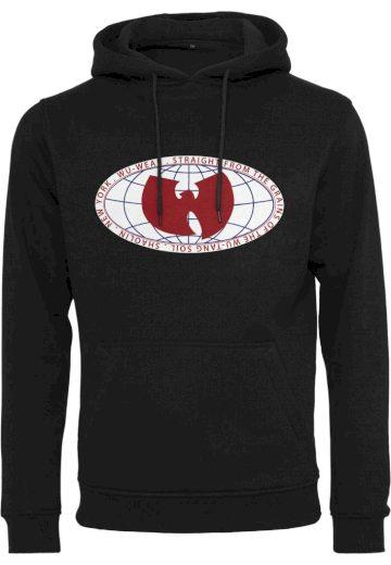 Mikina s kapucí Wu-Wear Globe Patch Hoody - černá, XL