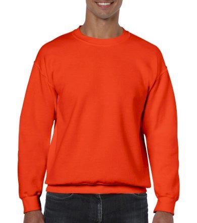 Mikina Gildan Heavy Blend - oranžová, S