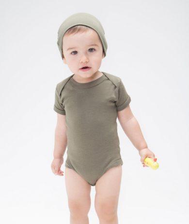 Dětské body Babybugz Organic Baby Short - olivové, 3-6 měsíců