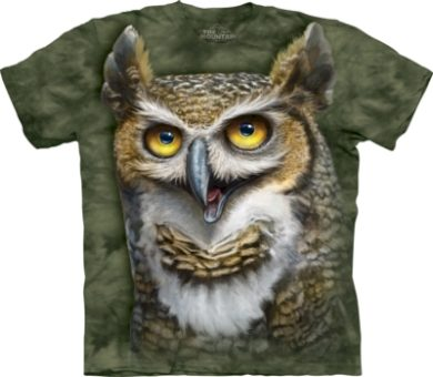 Tričko unisex The Mountain Wise Owl - zelené, XL