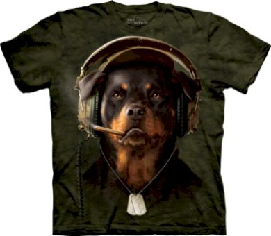 Tričko unisex The Mountain DJ Sarge - zelené, S