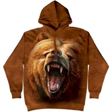 Mikina The Mountain Hoodie Grizzly Growl - hnědá, XL