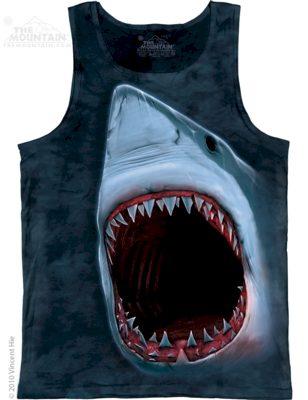 Tílko unisex The Mountain Shark Bite - šedé, M
