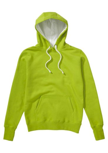 Mikina s kapucí SG Contrast - žlutá, XXL