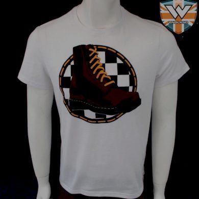Tričko Warrior Classic Boots - bílé, XL