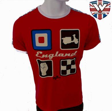 Tričko Warrior Classic England Target - červená, M
