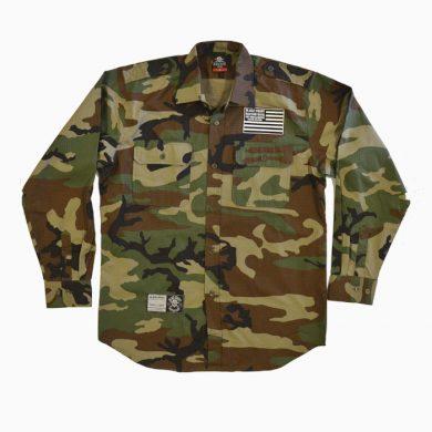 Košile Black Heart Destroyer - woodland, M