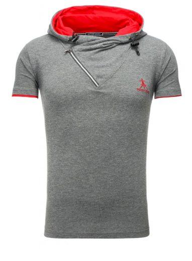 Polokošile Akito Tanaka Sportra - šedá-červená, XL