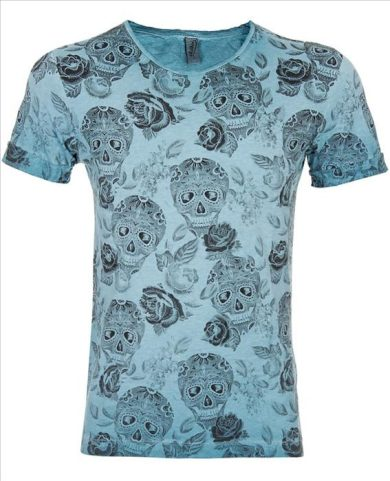 Tričko EKSI Skullhead - modré, XL