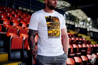 Triko PGwear Football Without Fans - bílé, XXL