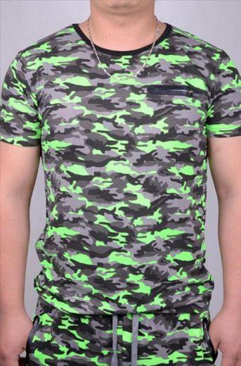 Tričko Anthony Denim Camo - green-camo, XL