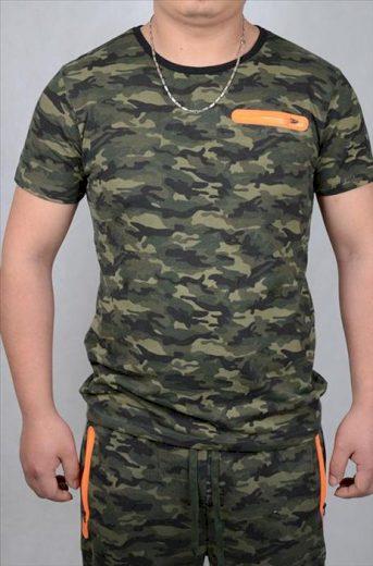 Tričko Anthony Denim Camo - woodland, XL
