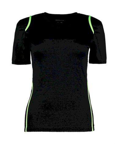 Tričko dámské Gamegear Cooltex - černé-zelené, XL