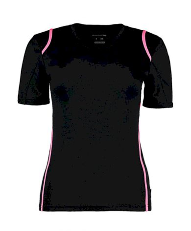 Tričko dámské Gamegear Cooltex - černé-růžové, XL