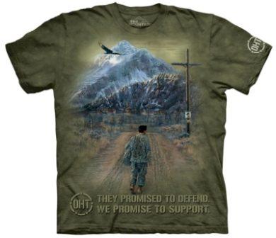 Tričko unisex The Mountain Hero Returns Military - olivové, XL