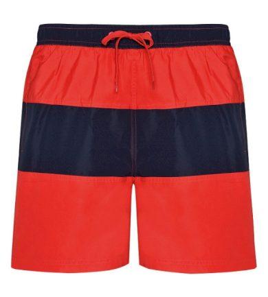 Pánské plavecké šortky Roly Moorea - červené-navy, XL