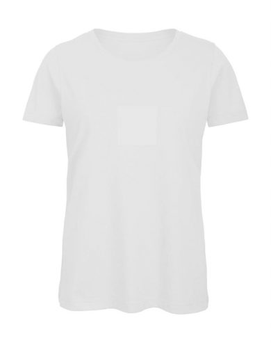 Tričko dámské B&C Jersey - bílé, XL