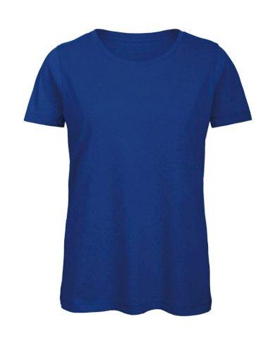 Tričko dámské B&C Jersey - modré, XL