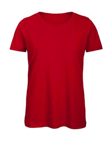 Tričko dámské B&C Jersey - červené, XL