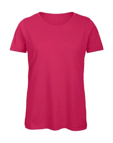 Tričko dámské B&C Jersey - růžové, XL