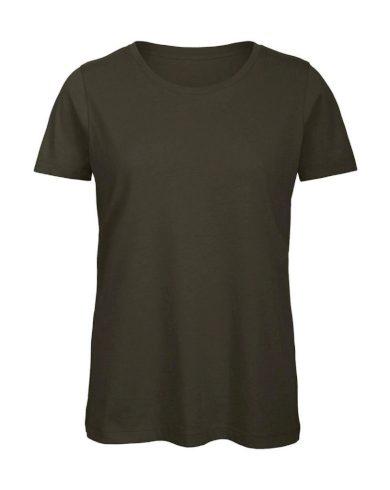Tričko dámské B&C Jersey - khaki, XL