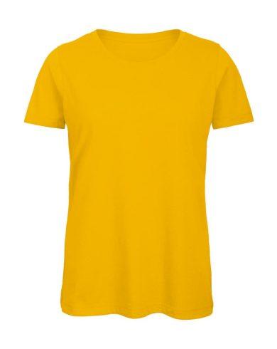 Tričko dámské B&C Jersey - žluté, XL