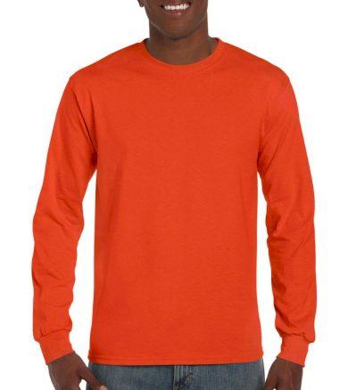 Triko s dlouhým rukávem Gildan Ultra - oranžové, XXL