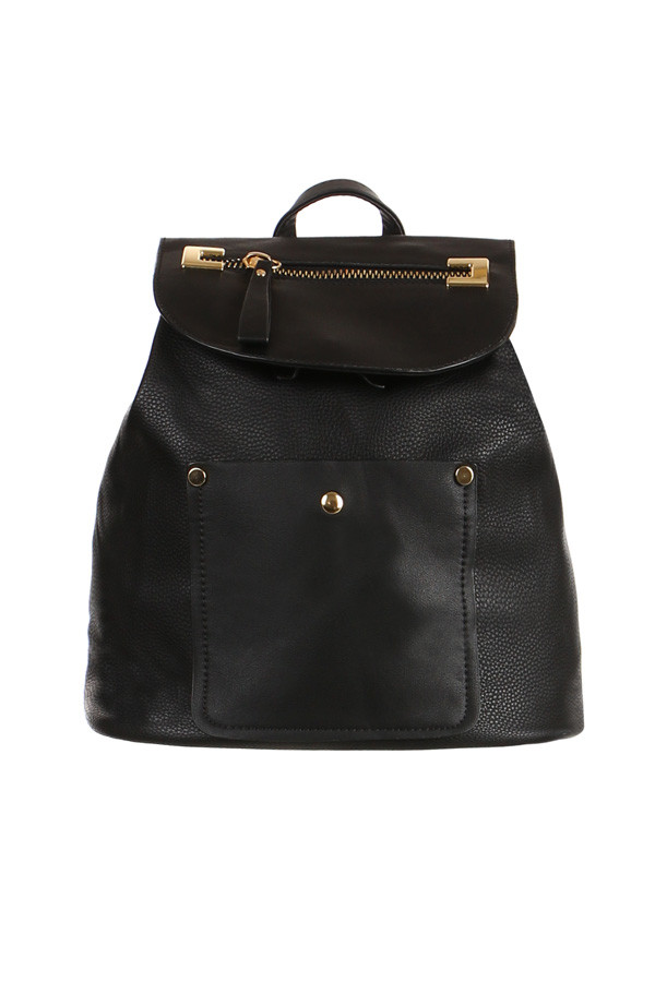 Glara Dámský větší městký koženkový batoh 199935