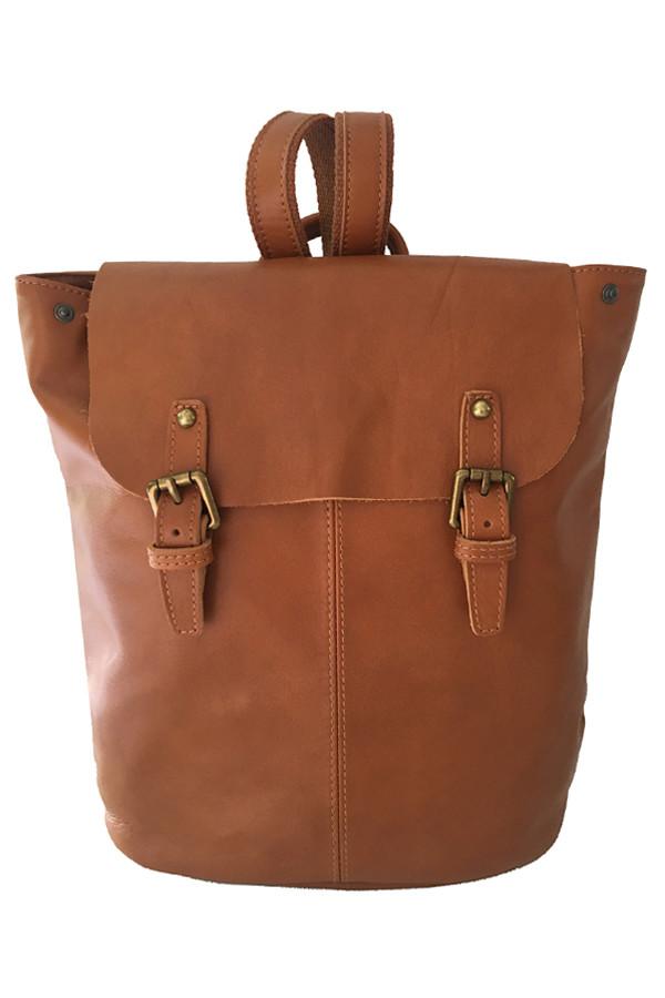 Glara Dámský jednobarevný batoh z pravé kůže 483158