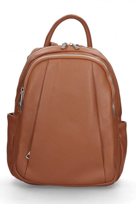 Glara Dámský italský kožený batoh Nicole 666245