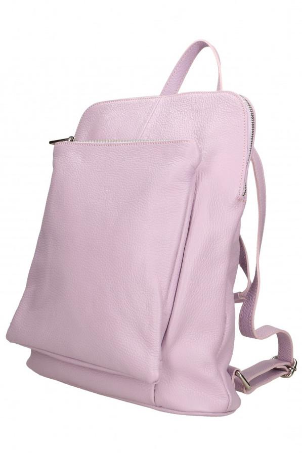 Glara Dámský italský batoh z pravé kůže 2v1 Vittoria 666166