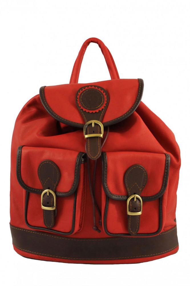 Glara Italský dámský kožený batoh Arianna 665943