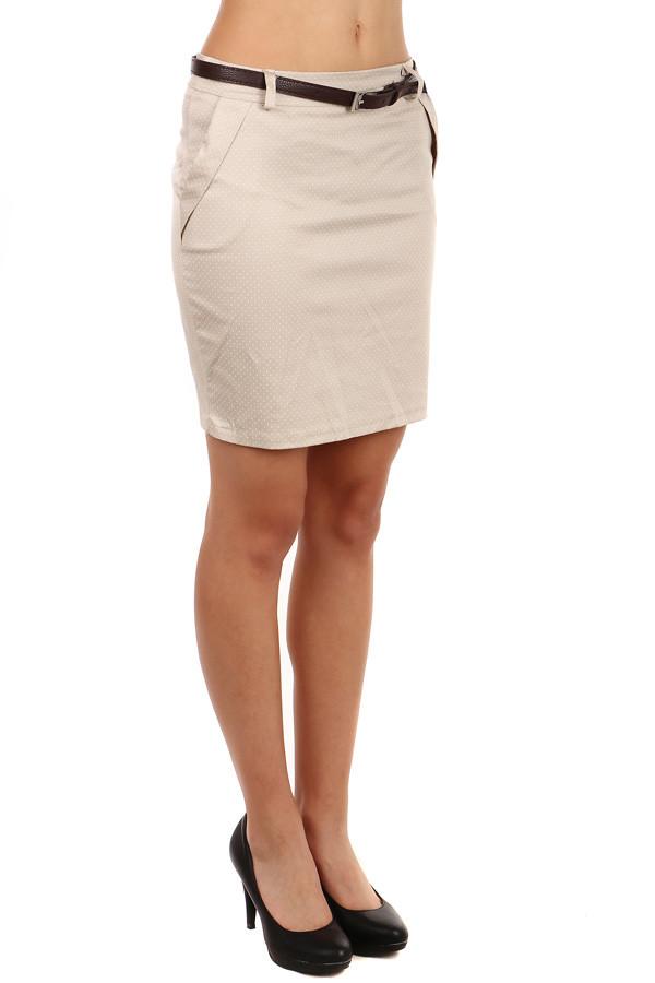 Glara Dámská pouzdrová jednobarevná midi sukně 76094