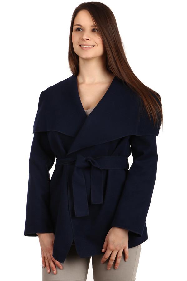 Glara Dámský kabát s páskem 395546