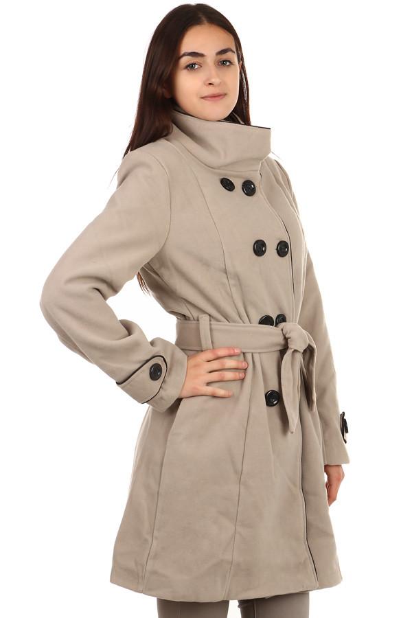 Glara Dámský zimní kabát s knoflíky i pro plnoštíhlé 84940