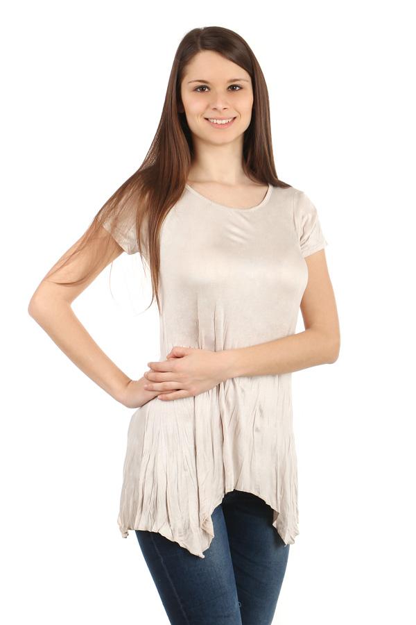 Glara Dámské delší tričko s krátkým rukávem 39892