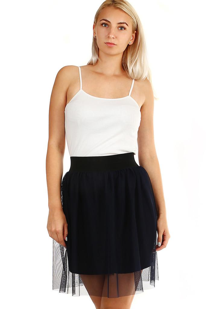 Glara Dámská tylová mini sukně 332358