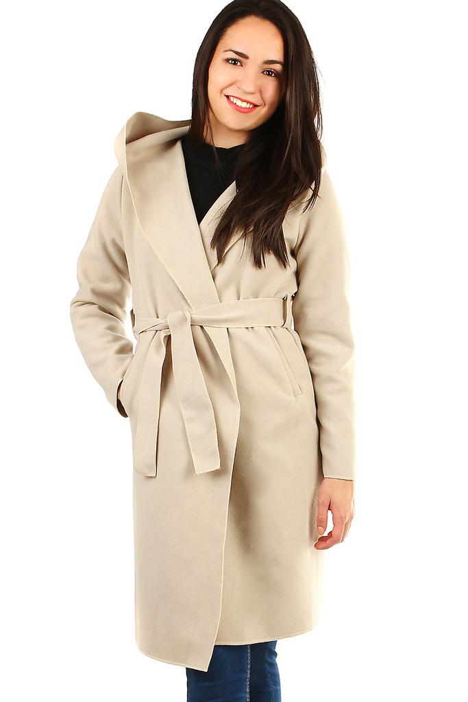 Glara Delší dámský kabát s kapucí 400170