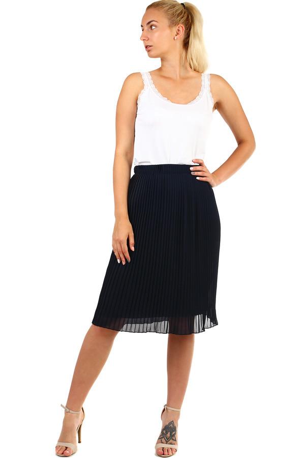 Glara Dámská plisovaná skládaná midi sukně v pase pružná 335327