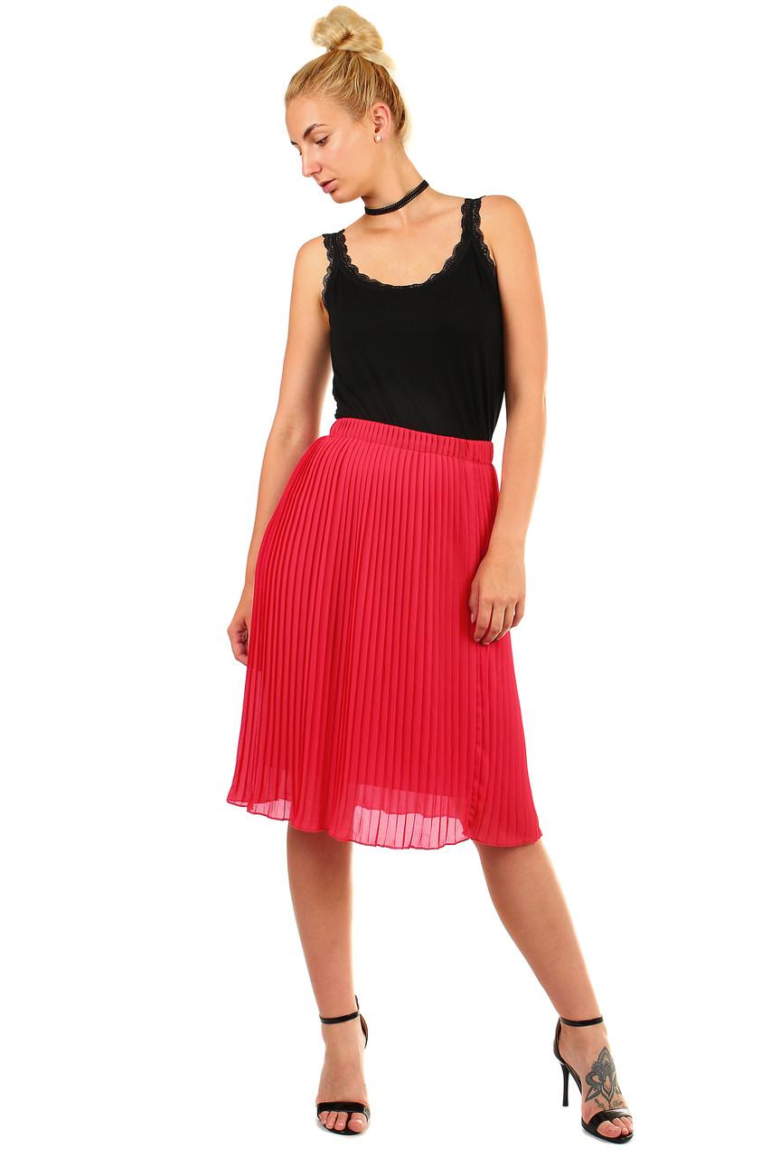 Glara Dámská plisovaná skládaná midi sukně v pase pružná 451110