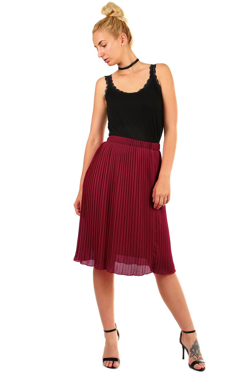 Glara Dámská plisovaná skládaná midi sukně v pase pružná 451111