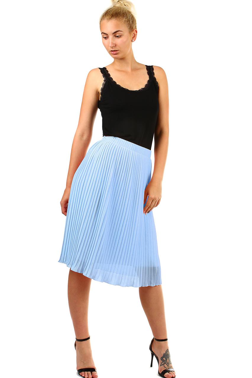 Glara Dámská plisovaná skládaná midi sukně v pase pružná 451115