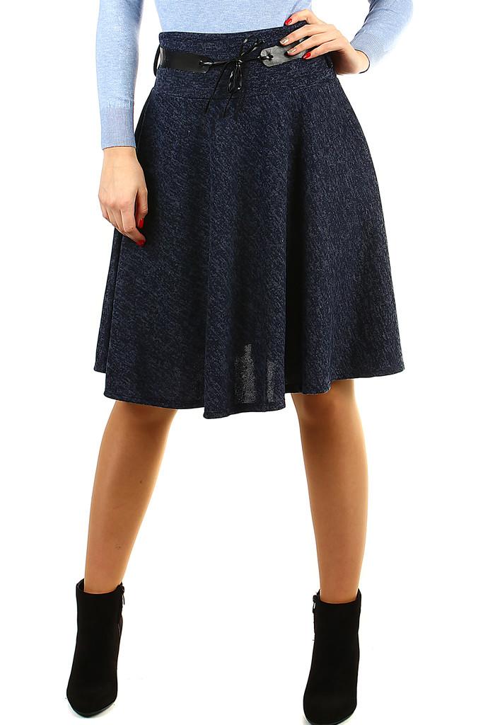 Glara Zimní áčková sukně žíhaný vzor 408036