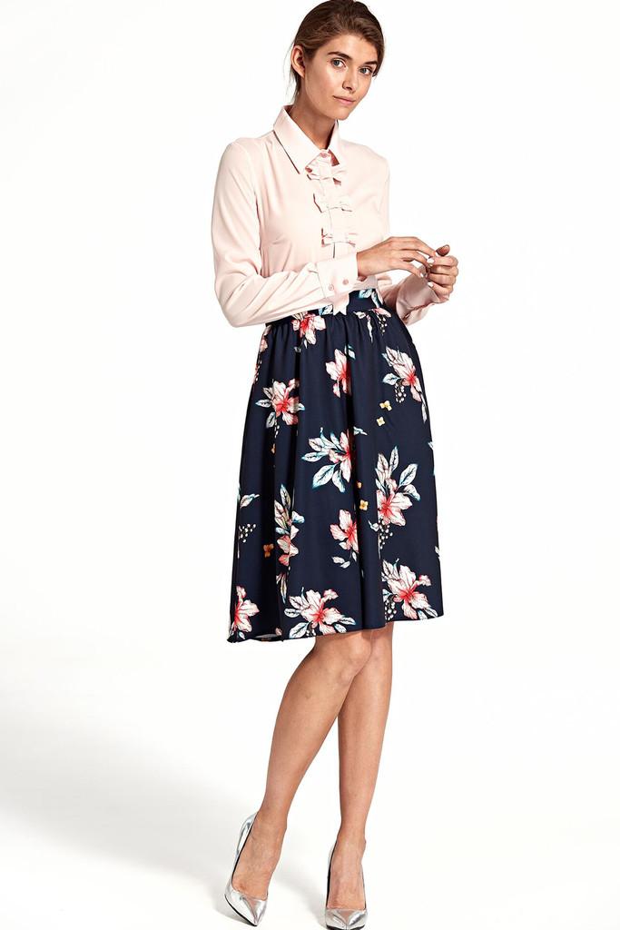 Glara Půlkolová sukně s květinovým potiskem 401889