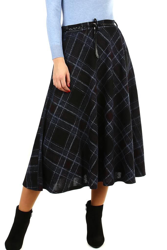 Glara Dlouhá úpletová sukně 418884