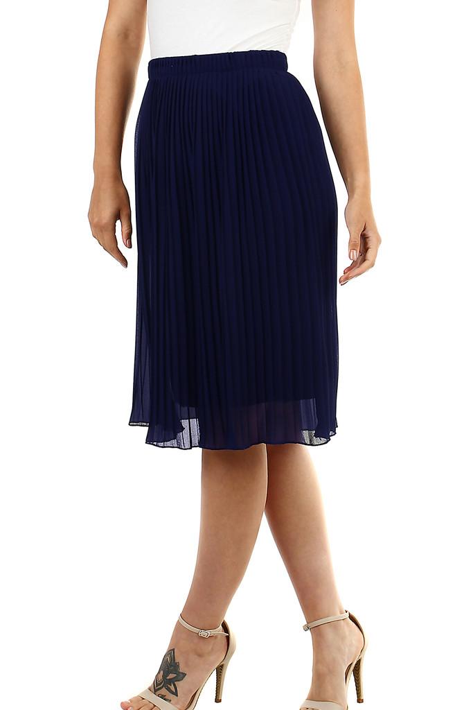 Glara Dámská plisovaná sukně s pružným pasem 468725
